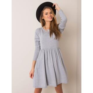 RUE PARIS Gray melange dress dámské Neurčeno S