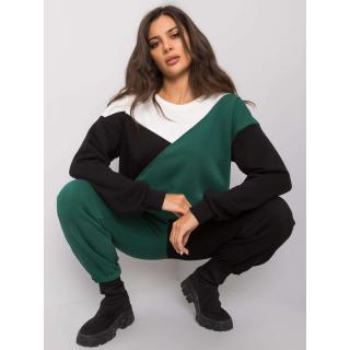 RUE PARIS Green and black set with pants dámské Other S