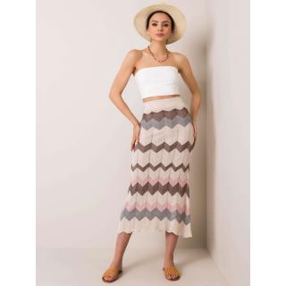 RUE PARIS Ladies´ beige skirt dámské Neurčeno one size S/M