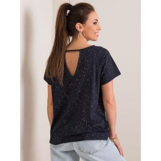RUE PARIS Ladies´ navy blue t-shirt dámské Neurčeno 40