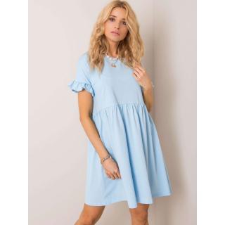 RUE PARIS Light blue oversized dress dámské Neurčeno M