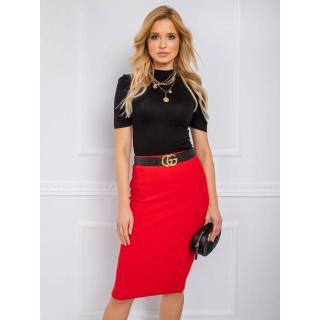 RUE PARIS Red pencil skirt dámské Neurčeno S