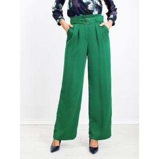 RUE PARIS wide green pants dámské Neurčeno 34
