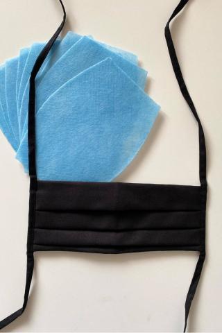 Rúška skladaná   10x NANO MED.CLEAN filter - barva:B04/čierna dámské