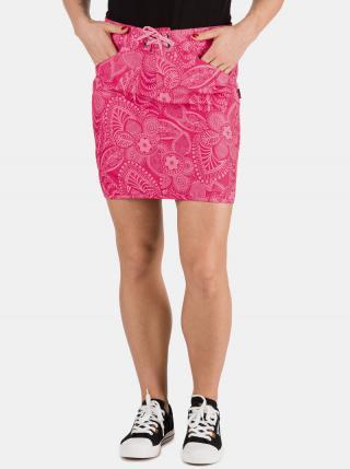 Ružová dámska kvetovaná sukňa SAM 73 dámské S