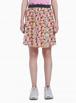 Ružová kvetovaná sukňa Tom Tailor Denim dámské S