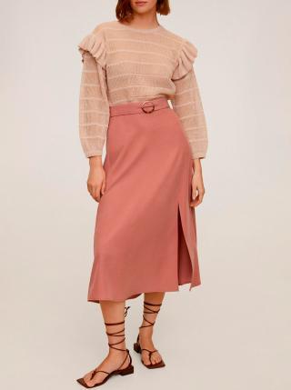 Ružová midi sukňa Mango Domenica dámské M