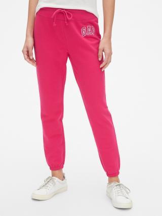 Ružové dámske tepláky GAP Logo dámské ružová L