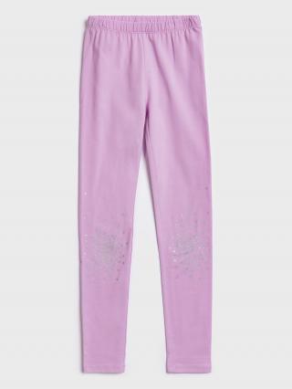 Ružové dievčenské legíny GAP svetlofialová 158