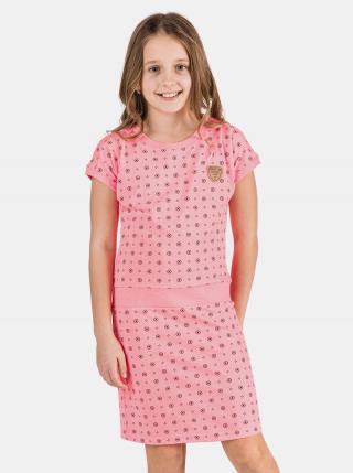 Ružové dievčenské šaty SAM 73 ružová 128