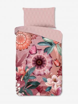 Ružové obojstranné flanelové obliečky na jednolôžko Home Hip Tlingit ružová