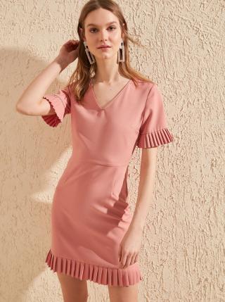 Ružové šaty Trendyol dámské ružová L