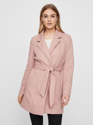 Ružový ľahký kabát VERO MODA Rodona dámské ružová S
