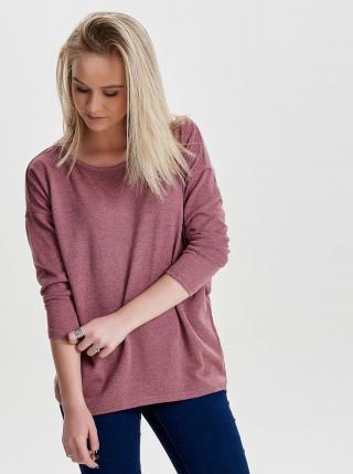 Ružový voľný melírovaný sveter ONLY dámské ružová S