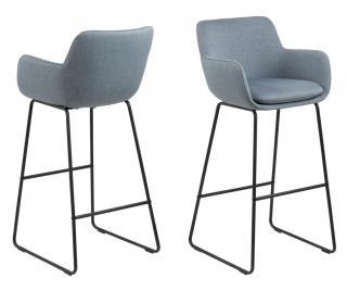 Sada 2 barových židlí Lisa Dusty Blue