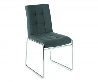 Sada 2 stoličky Alice Grey Sivá & Striebristá
