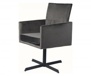 Sada 2 stoličky Sivá & Striebristá