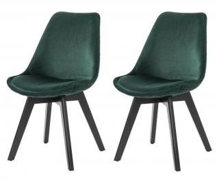 Sada 2 stoličky Zelená
