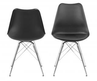 Sada 4 stoličky Eris Čierna