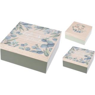 Sada dekoračných boxov Nature, 2 ks