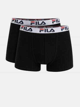 Sada dvoch čiernych boxeriek FILA pánské čierna XXL