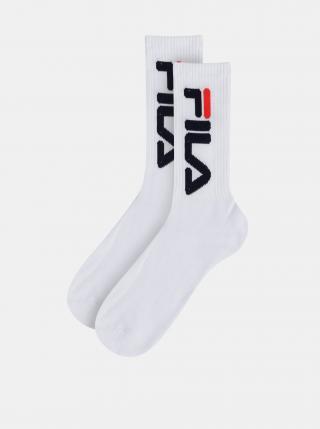 Sada dvoch párov bielych ponožiek FILA pánské biela 35-38 1/3