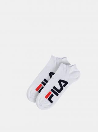 Sada dvoch párov pánských bielych nízkych ponožiek FILA pánské biela