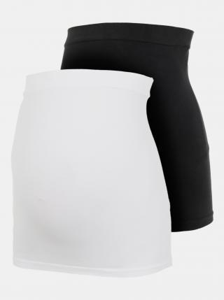Sada dvoch tehotenských pásov v bielej a čiernej farbe Mama.licious dámské čierna ONE SIZE