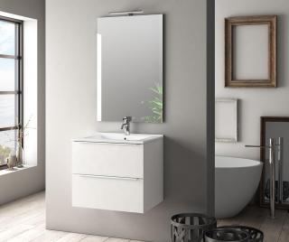 Sada nábytku do kúpeľne 4 ks Luna Luke Gloss White Biela