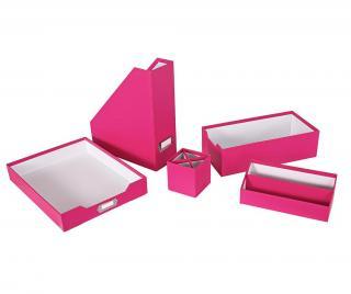 Sada pre kancelárske organizovanie 5 ks Opaco Pink Ružová