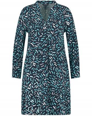 SAMOON Košeľové šaty Kopenhagen  námornícka modrá / tyrkysová / biela dámské 50