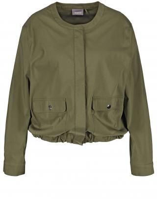 SAMOON Prechodná bunda  tmavozelená dámské L