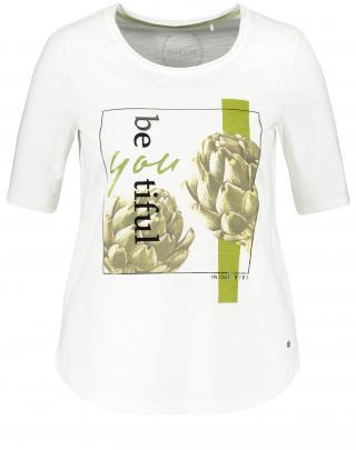 SAMOON Tričko  zelená / biela dámské L