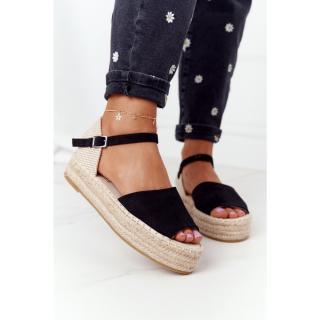 Sandals On A Braided Platform Black Megara dámské Other 38