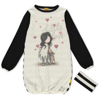 Santoro úpletové dievčenské šaty I Love You Little Rabbit - 4 biela 4