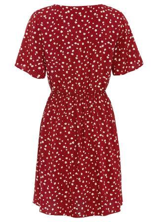 Šaty, bodkované dámské červená 34,36,38,40,42,44,46,48,50