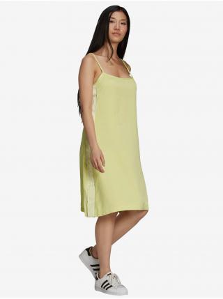 Šaty na denné nosenie pre ženy adidas Originals - žltá dámské XS