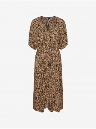 Šaty na denné nosenie pre ženy VERO MODA - hnedá dámské XS