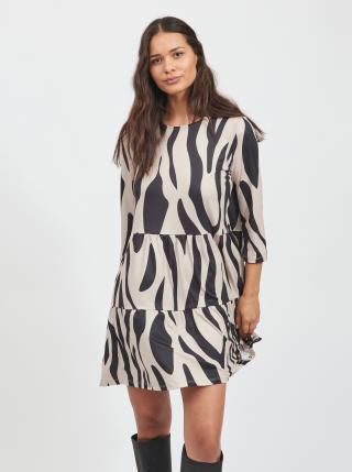 Šaty na denné nosenie pre ženy VILA - béžová, čierna dámské XS