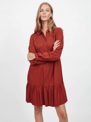 Šaty na denné nosenie pre ženy VILA - tehlová dámské XS