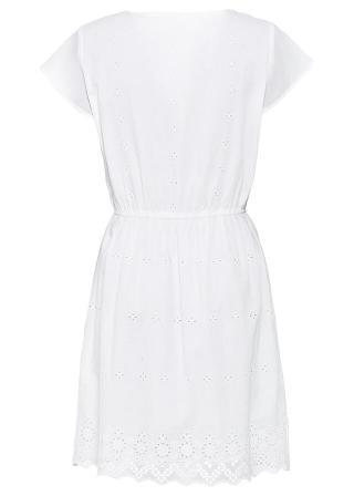 Šaty s dierkovanou výšivkou dámské biela 42,36,38,40,44,46,48,50,52,54