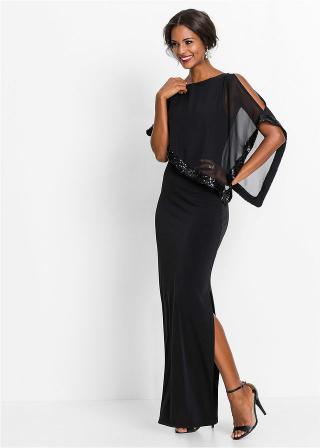 Šaty s flitrami dámské čierna 36,38,40,42,44,46,48,50,52,54