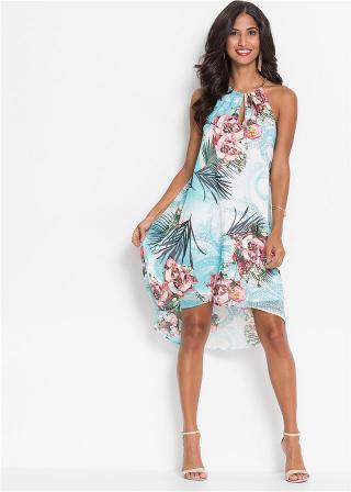 Šaty s kvetovanou potlačou dámské modrá 40,32,34,36,38,42,44,46,48,50