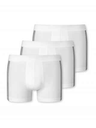 SCHIESSER Boxerky  biela / sivá melírovaná pánské S