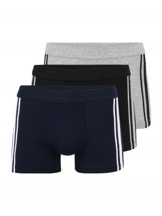 SCHIESSER Boxerky  sivá melírovaná / námornícka modrá / čierna / biela pánské S