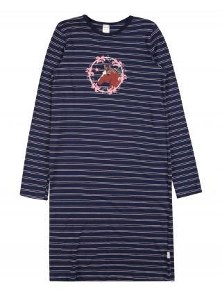 SCHIESSER Nočná košieľka  námornícka modrá / biela / ružová dámské 116