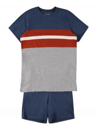 SCHIESSER Pyžamo  námornícka modrá / biela / červená pánské 140