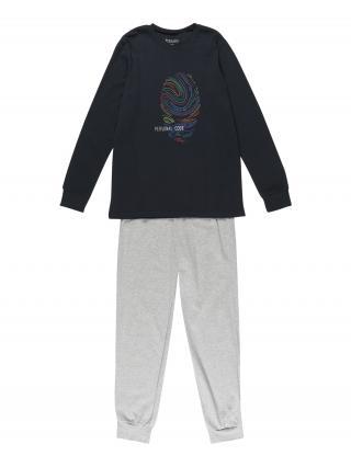 SCHIESSER Pyžamo  sivá / tmavomodrá / zmiešané farby pánské 140