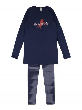 SCHIESSER Pyžamo  tmavomodrá / biela / svetloružová / pastelovo červená dámské 116