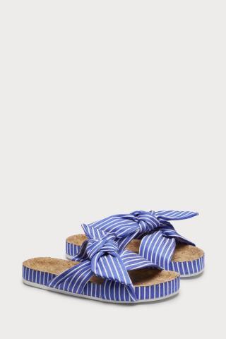 Scotch & Soda pruhované šľapky Yolin Blue/White - 37 dámské biela 37